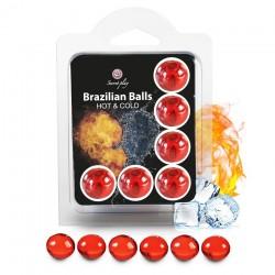 Boules Brésiliennes Effet Chaud - Froid X6