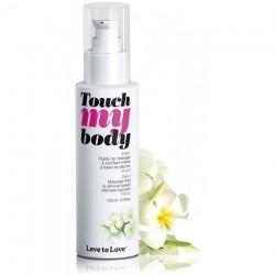 Massage  Lubrifiant Touch My Body Monoï - 100 ml