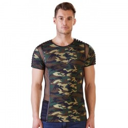 Tee Shirt Camouflage et Tulle - XXL