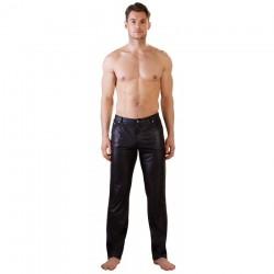 Pantalon Noir Mat Coupe Jean - L