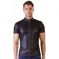 Veste Noir Mat Avec Zip - XL